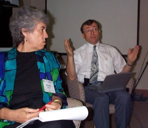 Van Dam and Dorothy Stout at the Workshop on SMET Education at the National Academy of Sciences in Washington, DC on June 20, 2000.