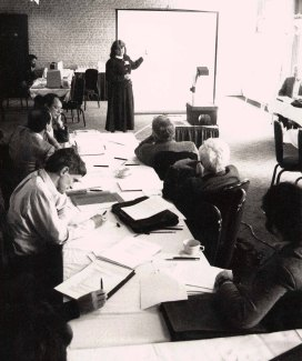 Judy Olson presents at the National Science Foundation (NSF) Workshop in Washington, DC in March 1991.