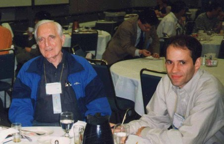 Doug Engelbart and Bederson at the ACM CHI Conference on Human Factors in Computing Systems in Los Angeles, CA, April 18-23, 1998.