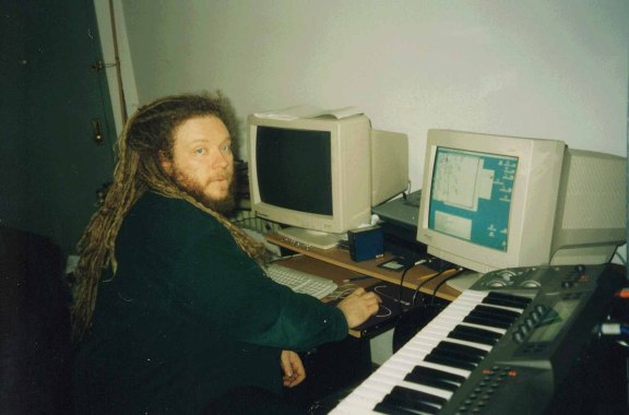 Jaron Lanier at his home in New York, NY in April 2007.