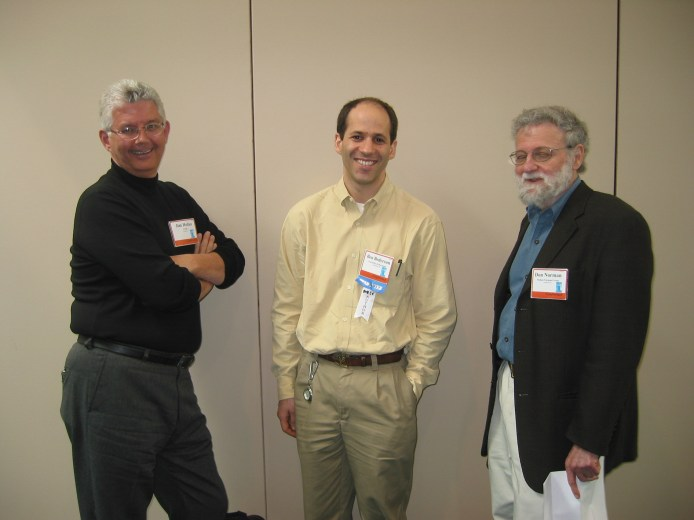 James Hollan, Bederson, and Don Norman at the ACM CHI Conference on Human Factors in Computing Systems in Ft. Lauderdale, FL, April 10, 2003.
