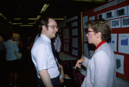 Nielsen with Christine Borgman at the ACM CHI Conference on Human Factors in Computing Systems in New Orleans, LA in April 1991.