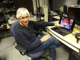 Steven Feiner at his lab at Columbia University in New York City on March 28, 2013.