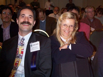 Coutaz with David Novick at the ACM Conference on Universal Usability in Arlington, VA, November 15 – 17, 2000.