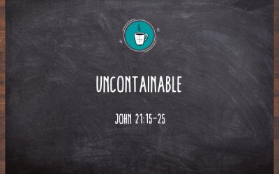 Uncontainable (Connect, Nurture, Serve)