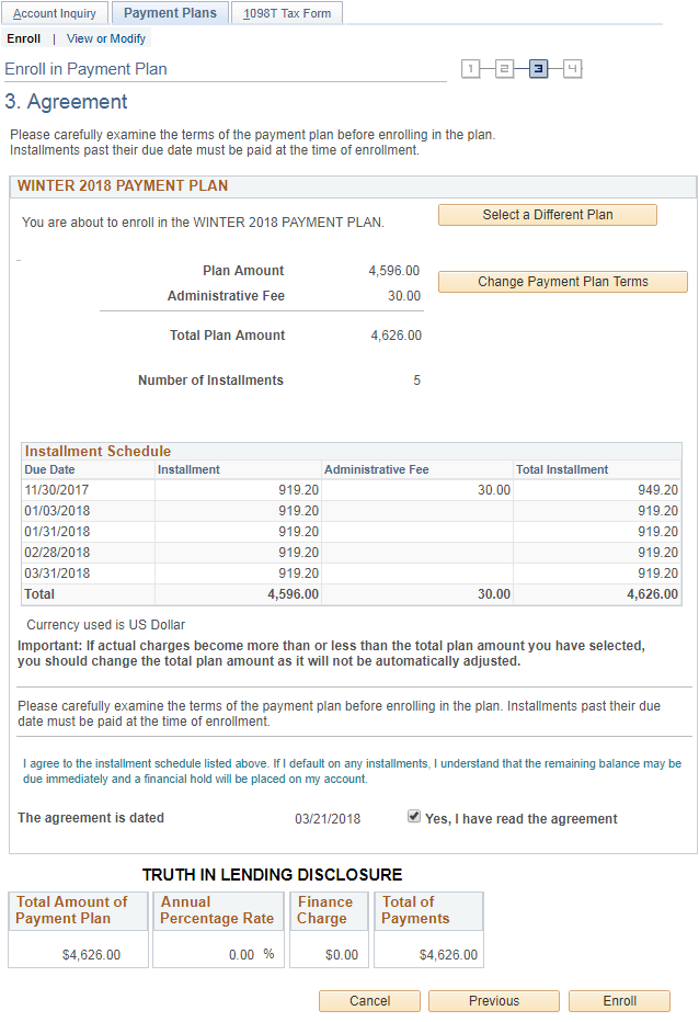 Help Enroll In Payment Plan