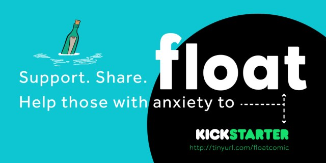float anxiety comic kickstarter