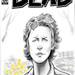 Carol with Flowers Walking Dead Sketch Cover