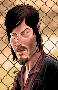 Walking Dead Art Print Daryl