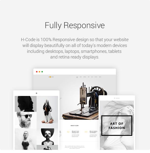 H-Code Responsive & Multipurpose WordPress Theme - 18