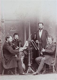 Earliest photo of the Quartet with de Ahna
