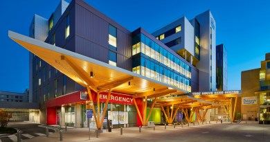 Colorful Graphics Create Healing Environment at New Acute Care Centre In Vancouver