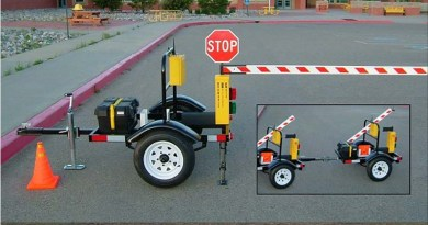 Battery-Operated Barrier