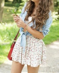 2. Floral and jean