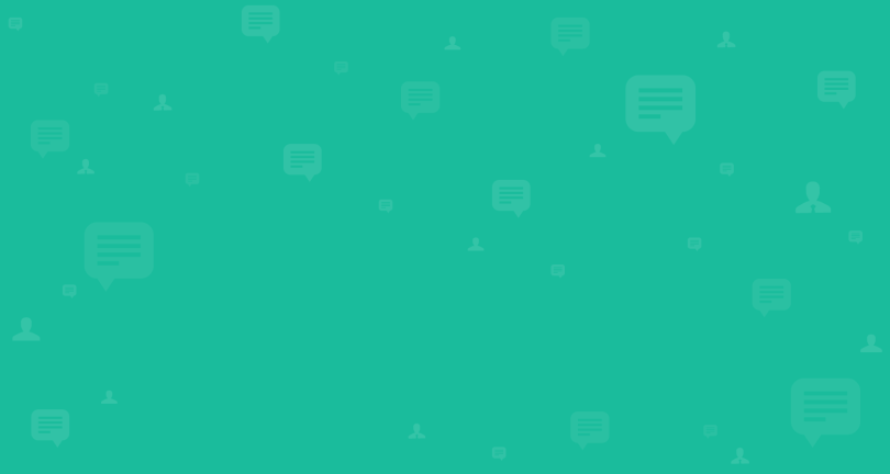 Green speech icons
