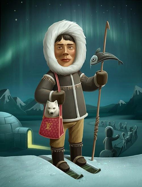 Cartoon image of an Eskimo