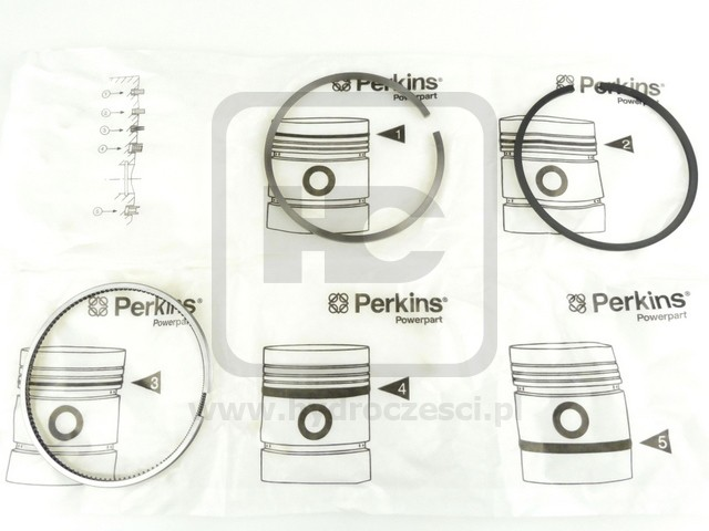JCB PERKINS Kit-piston ring 02/201140