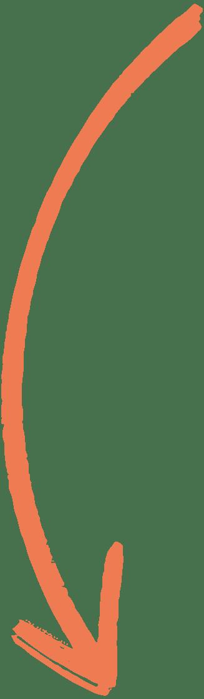 Flèche Orange Gauche vers le bas