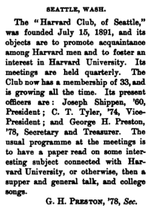 Harvard Club of Seattle