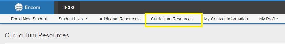 Encom Snippet - Curriculum Resources