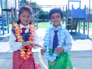 We are happy in our lavalava.