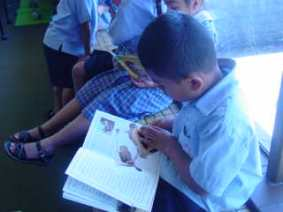 Looking at all the pictures is an important part of reading and understanding a book.