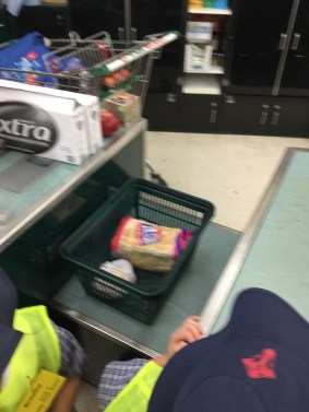 Our shopping went onto the counter