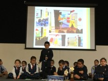 Rilyn sharing what we have learnt about Road Safety.