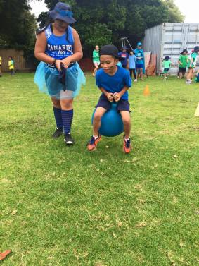 McKean students on the Moonhoppers activity