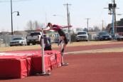 Hillary Knake high jump at Bronco Invite