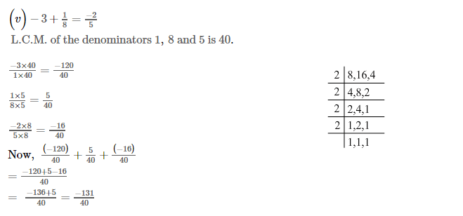 Rational Numbers RS Aggarwal Class 7 Maths Solutions