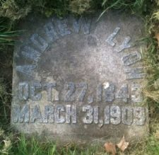 Grave marker of Andrew Lyon