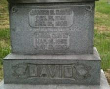 David Family Grave Marker