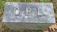 Foot stone of Oliver P. Boughner
