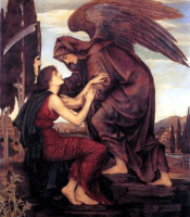 Stock image of Angel of Death--used to symbolize the reaping of Mrs. Ida Wolfe Donatell