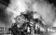 Stock image of steam engine