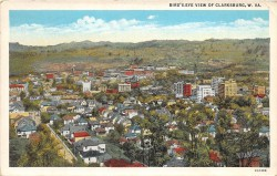 Clarksburg Post Card Image used to show the city where John Dotson worked and lived.
