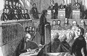 Sketch of a court room that may have been similar to one Judge Lewis might have used