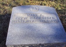 Headstone of Mary Baker