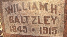 WIlliam H. Baltzley Inscription