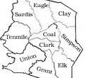 District map of Harrison County