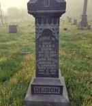 Deison Family marker including inscription for Luvnia