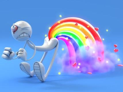 3d abstract glamorous funny rainbow