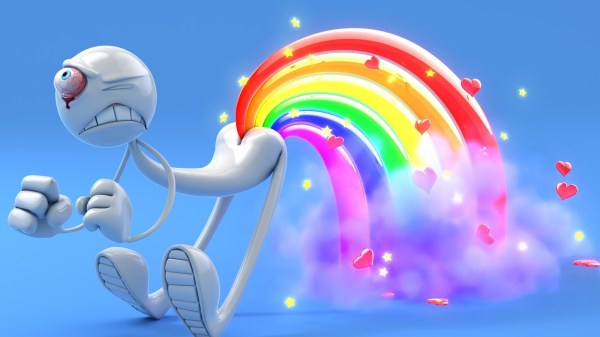 3d abstract glamorous funny rainbow