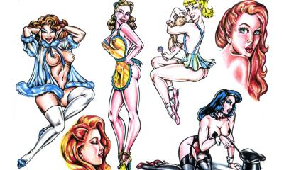 Tattoo Flash Pinup