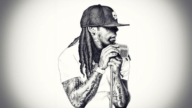 Lil wayne rapper drawing pencil greycale music hd wallpaper