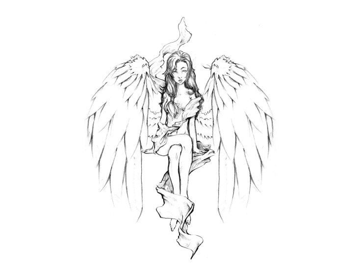 angels tattoo designs
