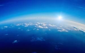 animated blue sky