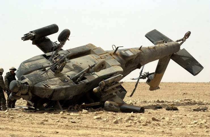 army helicopter crashed