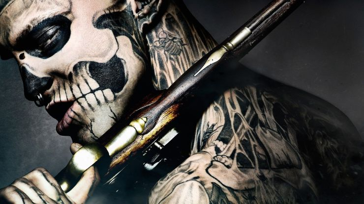 skeleton tattoo photography hd wallpaper